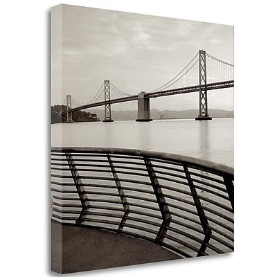 Tangletown Fine Art 'Bay Bridge - 3' Photographic Print on Wrapped Canvas; 20'' H x 20'' W