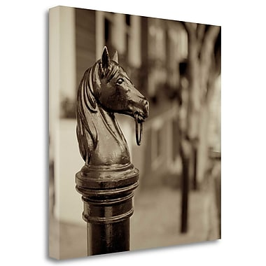 Tangletown Fine Art 'Hitching Post - 6' Photographic Print on Wrapped Canvas; 24'' H x 24'' W