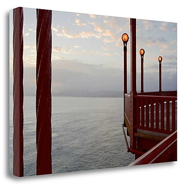 Tangletown Fine Art 'Golden Gate Bridge - 42' Photographic Print on Wrapped Canvas; 16'' H x 24'' W