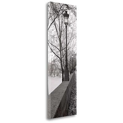 Tangletown Fine Art 'Seine Promenade' Photographic Print on Wrapped Canvas; 39'' H x 13'' W