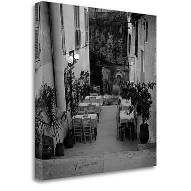 Tangletown Fine Art 'Cafe Greece - 1' Photographic Print on Wrapped Canvas; 25'' H x 25'' W