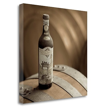Tangletown Fine Art 'Wine - 3' Photographic Print on Wrapped Canvas; 35'' H x 35'' W