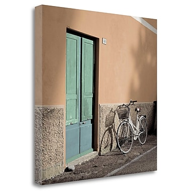 Tangletown Fine Art 'Liguria Bicycle - 1' Photographic Print on Wrapped Canvas; 20'' H x 20'' W