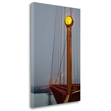 Tangletown Fine Art 'Golden Gate Bridge - 50' Photographic Print on Wrapped Canvas; 32'' H x 21'' W