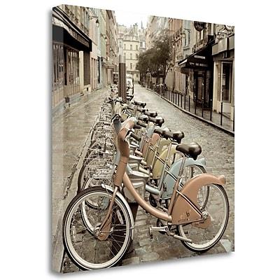 Tangletown Fine Art 'City Street Ride Paris' Photographic Print on Wrapped Canvas; 30'' H x 30'' W