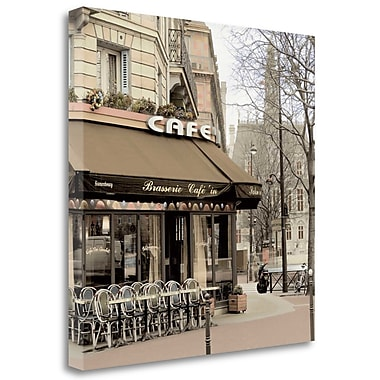 Tangletown Fine Art 'Brasserie Paris - 1' Print on Wrapped Canvas; 35'' H x 35'' W