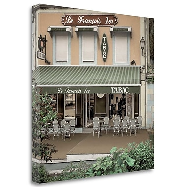 Tangletown Fine Art 'Le Francois 1er Bistro' Print on Wrapped Canvas; 30'' H x 30'' W
