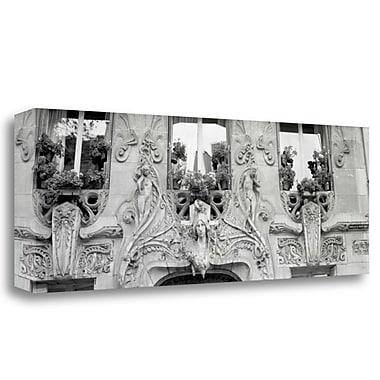 Tangletown Fine Art 'Art Dec Maison - 1' Photographic Print on Wrapped Canvas; 12'' H x 34'' W