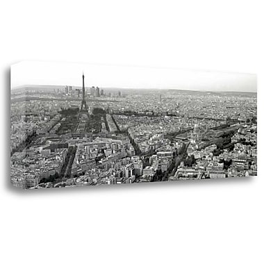 Tangletown Fine Art 'Paris by Day' Photographic Print on Wrapped Canvas; 12'' H x 34'' W