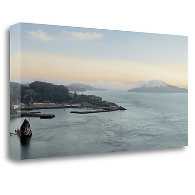 Tangletown Fine Art 'Bay Pano - 117' Photographic Print on Wrapped Canvas; 17'' H x 34'' W