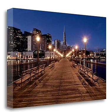 Tangletown Fine Art 'Broadway Pier - 21' Photographic Print on Wrapped Canvas; 16'' H x 24'' W