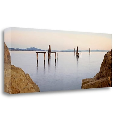 Tangletown Fine Art 'Bay Pano - 121' Print on Wrapped Canvas; 14'' H x 34'' W