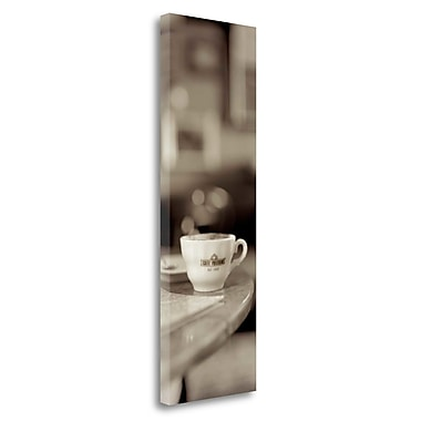 Tangletown Fine Art 'Tuscany Caffe - 3' Photographic Print on Wrapped Canvas; 39'' H x 13'' W