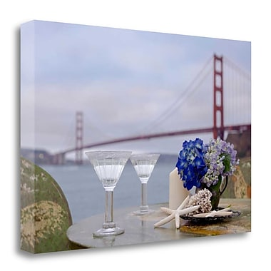 Tangletown Fine Art 'Dream Cafe Golden Gate Bridge - 63' Photographic Print on Wrapped Canvas