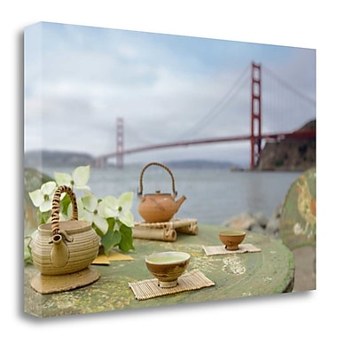 Tangletown Fine Art 'Dream Cafe Golden Gate Bridge - 66' Photographic Print on Wrapped Canvas