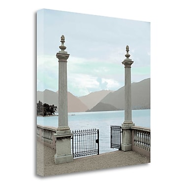 Tangletown Fine Art 'Harbor Garden Gates - 1' Photographic Print on Wrapped Canvas; 35'' H x 35'' W