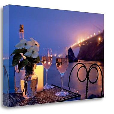 Tangletown Fine Art 'Dream Cafe Golden Gate Bridge - 7' Photographic Print on Wrapped Canvas