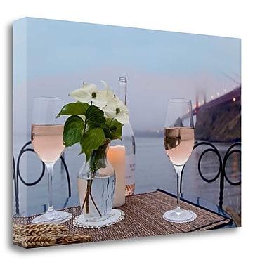 Tangletown Fine Art 'Dream Cafe Golden Gate Bridge - 10' Photographic Print on Wrapped Canvas