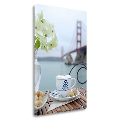 Tangletown Fine Art 'Dream Cafe Golden Gate Bridge - 17' Photographic Print on Wrapped Canvas