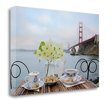 Tangletown Fine Art 'Dream Cafe Golden Gate Bridge - 15' Photographic Print on Wrapped Canvas