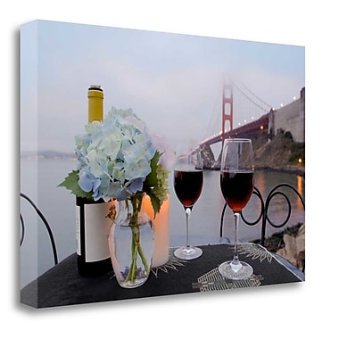 Tangletown Fine Art 'Dream Cafe Golden Gate Bridge - 13' Photographic Print on Wrapped Canvas