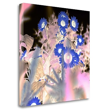 Tangletown Fine Art 'Floral Color - 8' Graphic Art Print on Wrapped Canvas; 25'' H x 25'' W