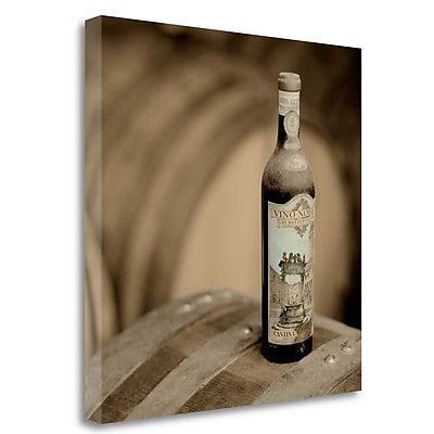 Tangletown Fine Art 'Wine - 4' Photographic Print on Wrapped Canvas; 25'' H x 25'' W