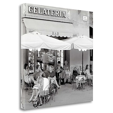 Tangletown Fine Art 'Tuscany Caffe - 21' Photographic Print on Wrapped Canvas; 35'' H x 35'' W