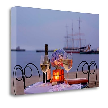 Tangletown Fine Art 'Dream Cafe Hyde St Pier - 34' Photographic Print on Wrapped Canvas