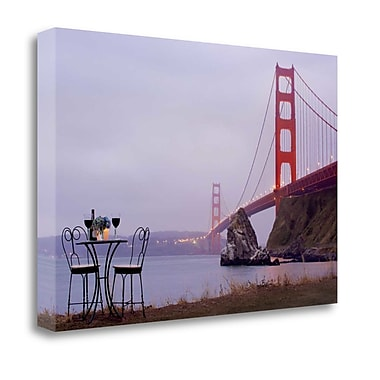 Tangletown Fine Art 'Dream Cafe Golden Gate Bridge - 35' Photographic Print on Wrapped Canvas