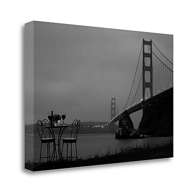Tangletown Fine Art 'Dream Cafe Golden Gate Bridge - 36' Photographic Print on Wrapped Canvas