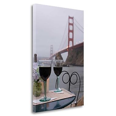 Tangletown Fine Art 'Dream Cafe Golden Gate Bridge - 38' Photographic Print on Wrapped Canvas