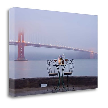 Tangletown Fine Art 'Dream Cafe Golden Gate Bridge - 53' Photographic Print on Wrapped Canvas