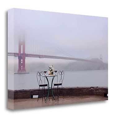 Tangletown Fine Art 'Dream Cafe Golden Gate Bridge - 58' Photographic Print on Wrapped Canvas