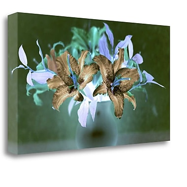 Tangletown Fine Art 'Floral Color - 20' Graphic Art Print on Wrapped Canvas; 22'' H x 39'' W