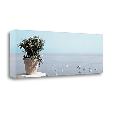 Tangletown Fine Art 'Positano Pano - 2' Photographic Print on Wrapped Canvas; 12'' H x 34'' W