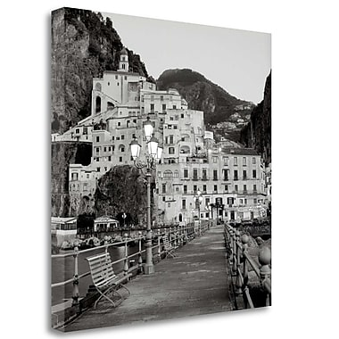 Tangletown Fine Art 'Amalfi Pier - 1' Photographic Print on Wrapped Canvas; 30'' H x 30'' W