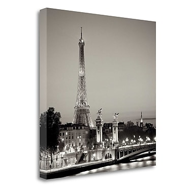 Tangletown Fine Art 'Pont Alexandre Trios' Photographic Print on Wrapped Canvas; 20'' H x 20'' W