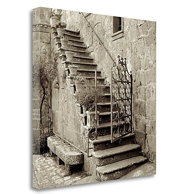 Tangletown Fine Art 'Umbria Scala - 1' Photographic Print on Wrapped Canvas; 20'' H x 20'' W