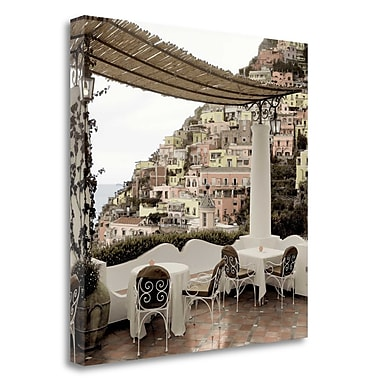 Tangletown Fine Art 'Positano Caffe - 1' Photographic Print on Wrapped Canvas; 30'' H x 30'' W