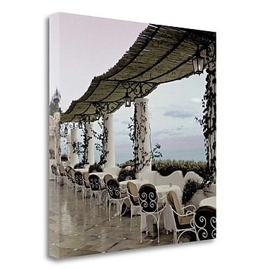 Tangletown Fine Art 'Positano Caffe - 1' Photographic Print on Wrapped Canvas; 35'' H x 35'' W