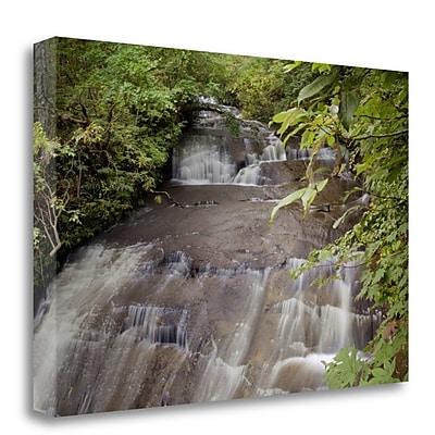 Tangletown Fine Art 'Hokkaido Waterfall - 3' Photographic Print on Wrapped Canvas; 26'' H x 40'' W