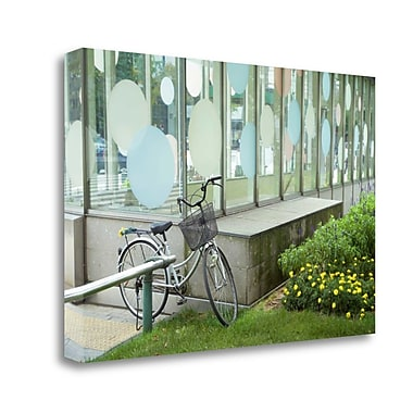 Tangletown Fine Art 'Japan Bicycle - 3' Photographic Print on Wrapped Canvas; 19'' H x 28'' W