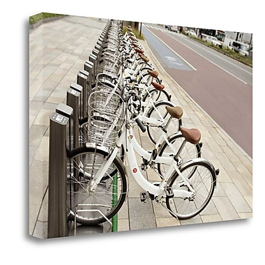 Tangletown Fine Art 'Japan Bicycle - 7' Photographic Print on Wrapped Canvas; 18'' H x 27'' W