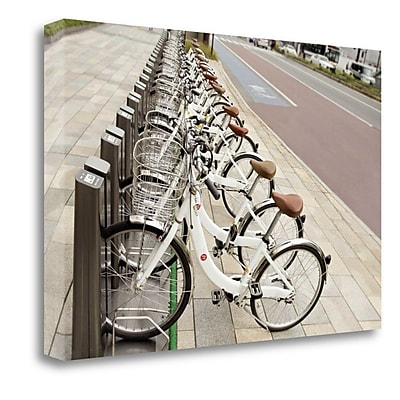 Tangletown Fine Art 'Japan Bicycle - 7' Photographic Print on Wrapped Canvas; 20'' H x 31'' W