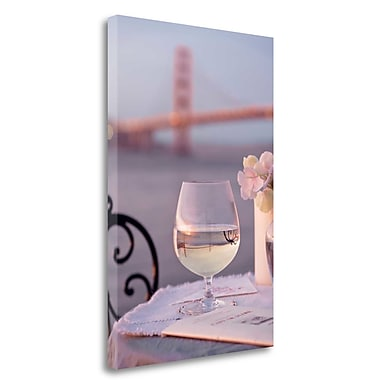 Tangletown Fine Art 'Dream Cafe Golden Gate Bridge - 80' Photographic Print on Wrapped Canvas