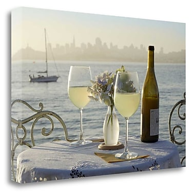 Tangletown Fine Art 'Dream Cafe Golden Gate Bridge - 74' Photographic Print on Wrapped Canvas