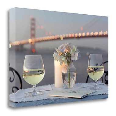 Tangletown Fine Art 'Dream Cafe Golden Gate Bridge - 79' Photographic Print on Wrapped Canvas