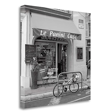 Tangletown Fine Art 'le Panini Cafe' Photographic Print on Wrapped Canvas; 30'' H x 30'' W