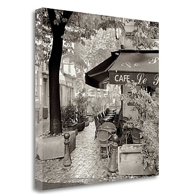 Tangletown Fine Art 'Cafe Aix-en-Provence' Photographic Print on Wrapped Canvas; 20'' H x 20'' W